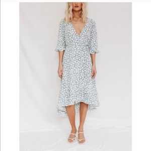 Verge girl wrap midi dress size 12